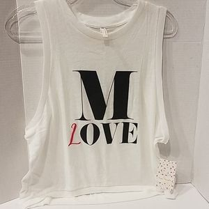 Free People NWT White Muscle Workout Tank